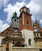 Wawel-kathedraal, de kathedraal basiliek van st. stanislaw en vaclav op de heuvel wawel in kraków — Stockfoto