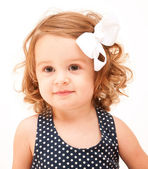 Girl with a bow — Stock Photo