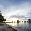 HDR of Miami at Sunset — Stock Photo