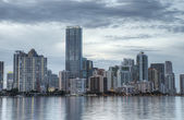 Hdr van miami skyline — Stockfoto