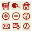 Hand drawn web icons — Stock Photo #10813850