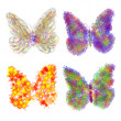Abstract colorful butterflys — Stock Photo