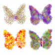 Abstract colorful butterflys — Stock Photo #11548609