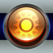 Sun icon — Stock Photo