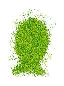 Cabeza en forma de hojas — Foto de Stock