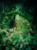 Fairy in the forest — Stock Photo