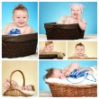 Stock Photo: Adorable baby boy collage