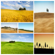 collage de paisaje de Toscana — Foto de Stock