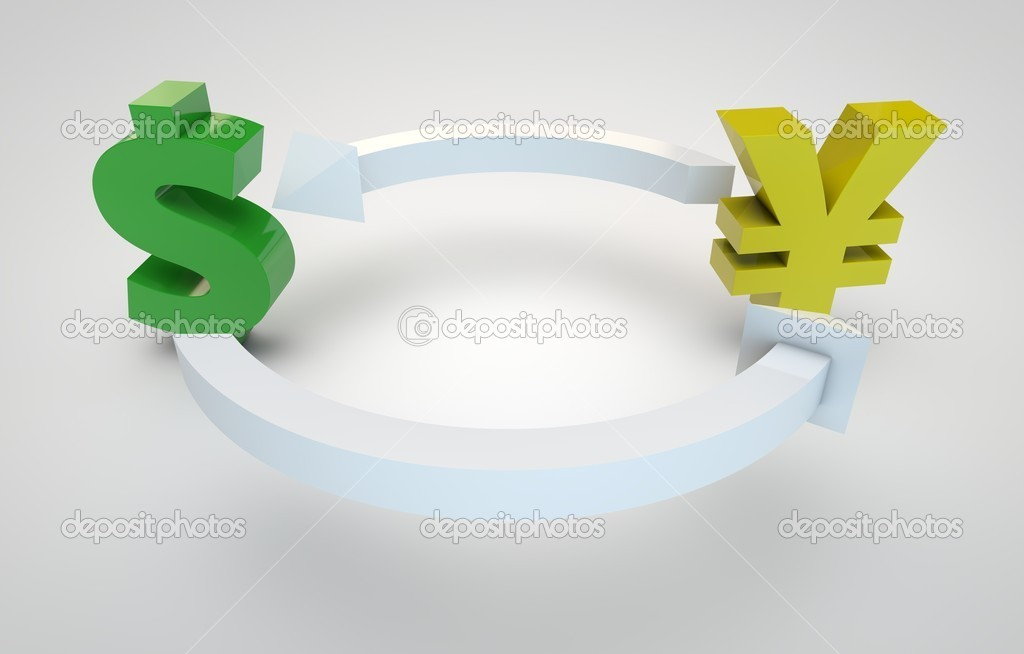 3d render of currency exchange concept — Stock Photo #11453081