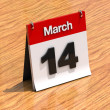 Calendar on desk - March 14th — Stock Photo #11571884