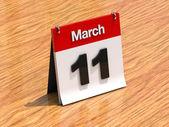 Calendar on desk - March 11th — Stock Photo