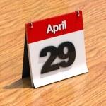 Red white calendar — Stock Photo