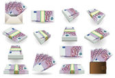 Full set of five hundred euros banknotes — Stock Photo