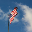 Stars and Stripes Streaming — Stock Photo