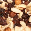 Fruit and nuts abstract background — Stock Photo