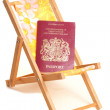 Summer holiday with passport — Stock Photo