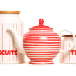 Stock Photo: Teapot and storage tins