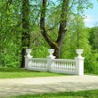 Details of ensemble of a palace in park - Stock Photo