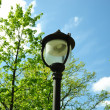 Lamp and  blue sky - Stock Photo