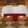 Comfortable seats for the bride and groom before the wedding — Stock Photo #11133125