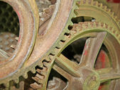 Rusty and ancient gear of a gear wheel — Stock Photo