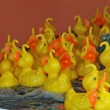 Yellow ducks ready to be fished in a merry go round of Fortune — Stock Photo #11250790