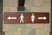 Signal indications of toilet for men and women — Stock Photo