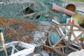 Pile of scrap metal from the Junk shop ready to be melted down a — Stock Photo