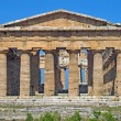 Precious and Ancient Greek temple with columns still intact - Foto Stock