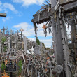 Sad Hill of crosses with thousands of crucifixes in Lithuania — Stockfoto