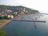 Scenic view of the port of agropoli in Italy — Stock Photo