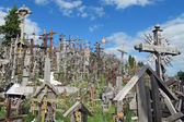 Sad Hill of crosses with thousands of crucifixes in Lithuania — Stock Photo