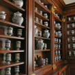 Pottery jars of an ancient pharmacy - Stockfoto