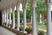 Cloister of the old convent of monks — Stock fotografie