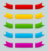 Colorful ribbons — Stock Vector