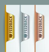 Feedback bookmarks — Stock Vector