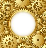 Cogwheel gear document template — Stock Vector