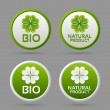 Stock Vector: Bio and natural product badge icons