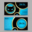 Stock Vector: Cat head theme business card