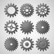 Steel cogwheels — Stock Vector