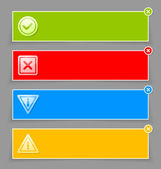 Notification banners — Stock Vector