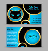 Cat head theme business card — Stock Vector