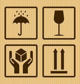 Cardboard symbols — Stock Vector