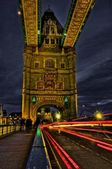 Tower Bridge & Lights — Stock Photo