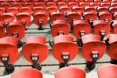 Red arena chairs — Stock Photo