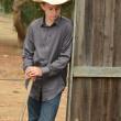 Young Cowboy — Stock Photo
