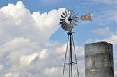 Working Windmill — Stockfoto