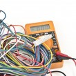 Digital multimeter with wires - Stock Photo