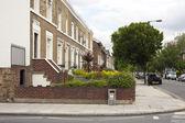 Residental street view — Stock Photo