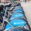 Stock Photo: Barclays cycle hire